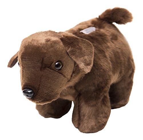 Carstens Chocolate Plush Lab Dog Kids Coin Bank ()