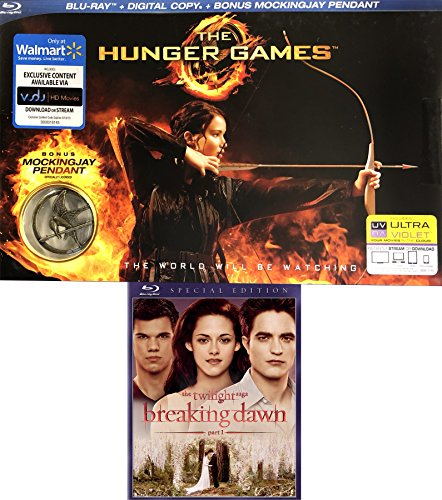 Exclusive Hunger Games with Pendant + Twilight Breaking Dawn Special Edition Double Feature