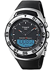Tissot Men's 'Sailing Touch' Swiss Quartz Stainless Steel and Rubber Sport Watch, Color:Black (Model: T0564202705101)