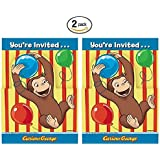 Amazoncom Curious George Party Invitations 8ct Toys Games