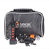 Aeteretk 1000M Range Remote Dog Training Collar Shock Beep Tone Vibration and Auto No Bark for 2 Dogs