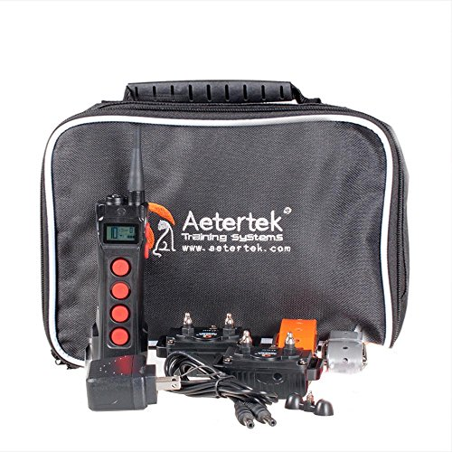 Aeteretk 1000M Range Remote Dog Training Collar Shock Beep Tone Vibration and Auto No Bark for 2 Dogs by Aetertek