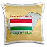 3dRose The map and flag of Hungary with