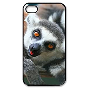 ALICASE Diy Customized hard Case Lemur For Iphone 4/4s [Pattern-1]