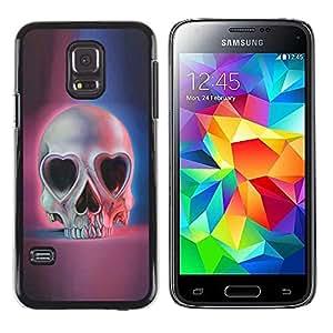 LASTONE PHONE CASE / Carcasa Funda Prima Delgada SLIM Casa Carcasa Funda Case Bandera Cover Armor Shell para Samsung Galaxy S5 Mini, SM-G800, NOT S5 REGULAR! / Heart Pink Blue Skull Skeleton Death
