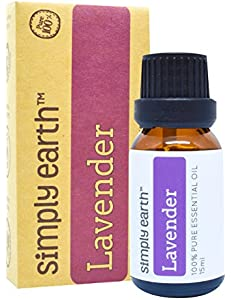 Lavender Essential Oil by Simply Earth - 15 ml, 100%...