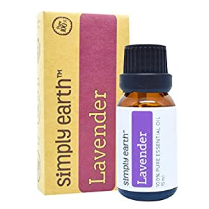 Lavender Essential Oil by Simply Earth - 15 ml, 100% Pure Therapeutic Grade