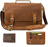 Leather Messenger Bag for Men - 17