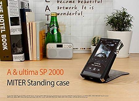 MITER CASE para Astell/&Kern A/&Ultima SP2000 Black Estuche Hecho a Mano con Soporte Patentado Cover para AK SP2000 Carcasas y Fundas