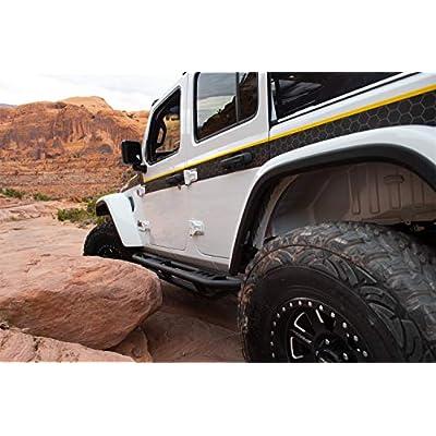 Smittybilt 77634 SRC Side Armor with Steps for 2020 Jeep Wrangler JL 4 Door: Automotive