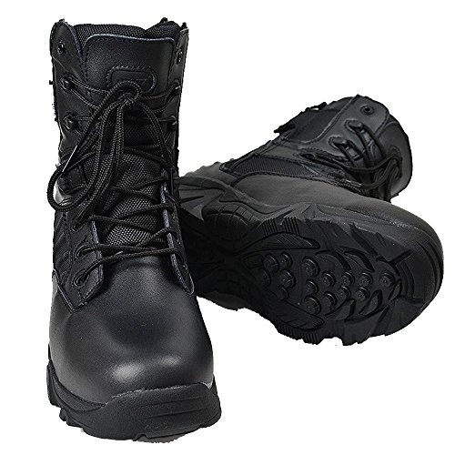 Macho negro Outdoor High Top táctica de guerra terrestre viajes antideslizante botas de escalada