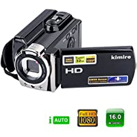 Camcorder Video Camera Kimire Portable Digital Video Recorder HD 1080P 20MP Megapixels 3.0 Inch TFT LCD Screen 16X Digital Zoom Camcorder With Stabilization(HDV-603S-Black)