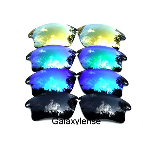 5457b580543 60%OFF Galaxy Replacement Lenses for Oakley Fast Jacket  Black Blue Green Gold Color Polarized ...