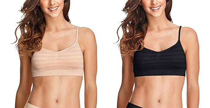 a8cd571391 Jockey Women s Bras Modern Micro Seamfree Cami Strap Bralette - 2 Pack   Amazon.ca  Clothing   Accessories