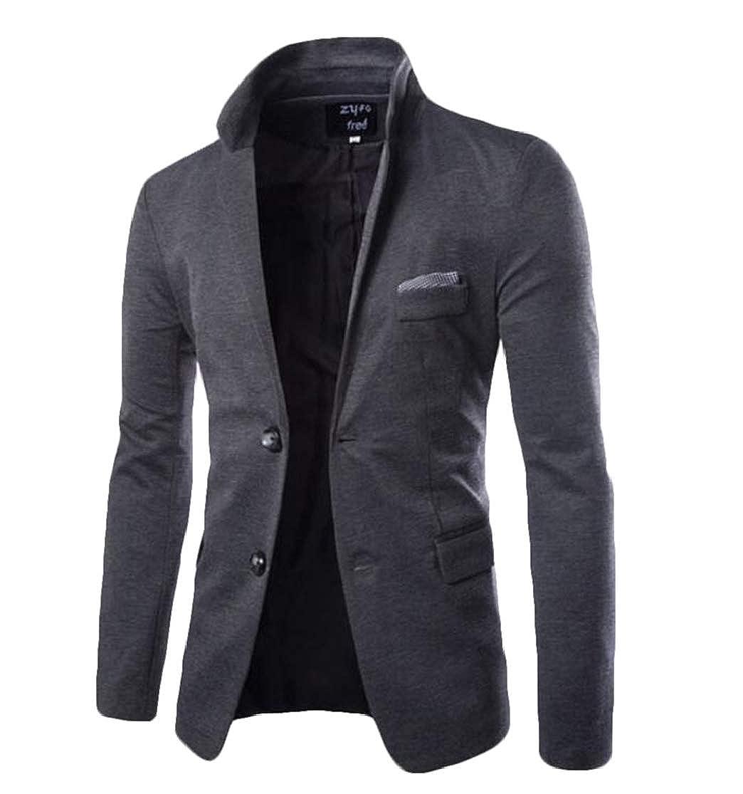 KLJR Men Casual Lapel Two Button Business Slim Fit Sportcoat Blazer Jacket