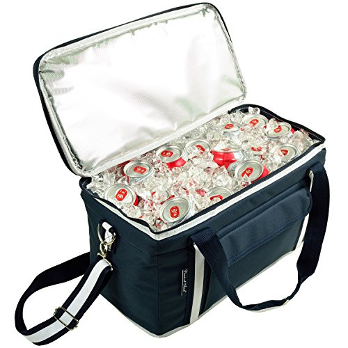 Picnic at Ascot Ultimate 24 -Quart Cooler- Combines Best Qualities of Hard & Soft Collapsible Coolers - Navy