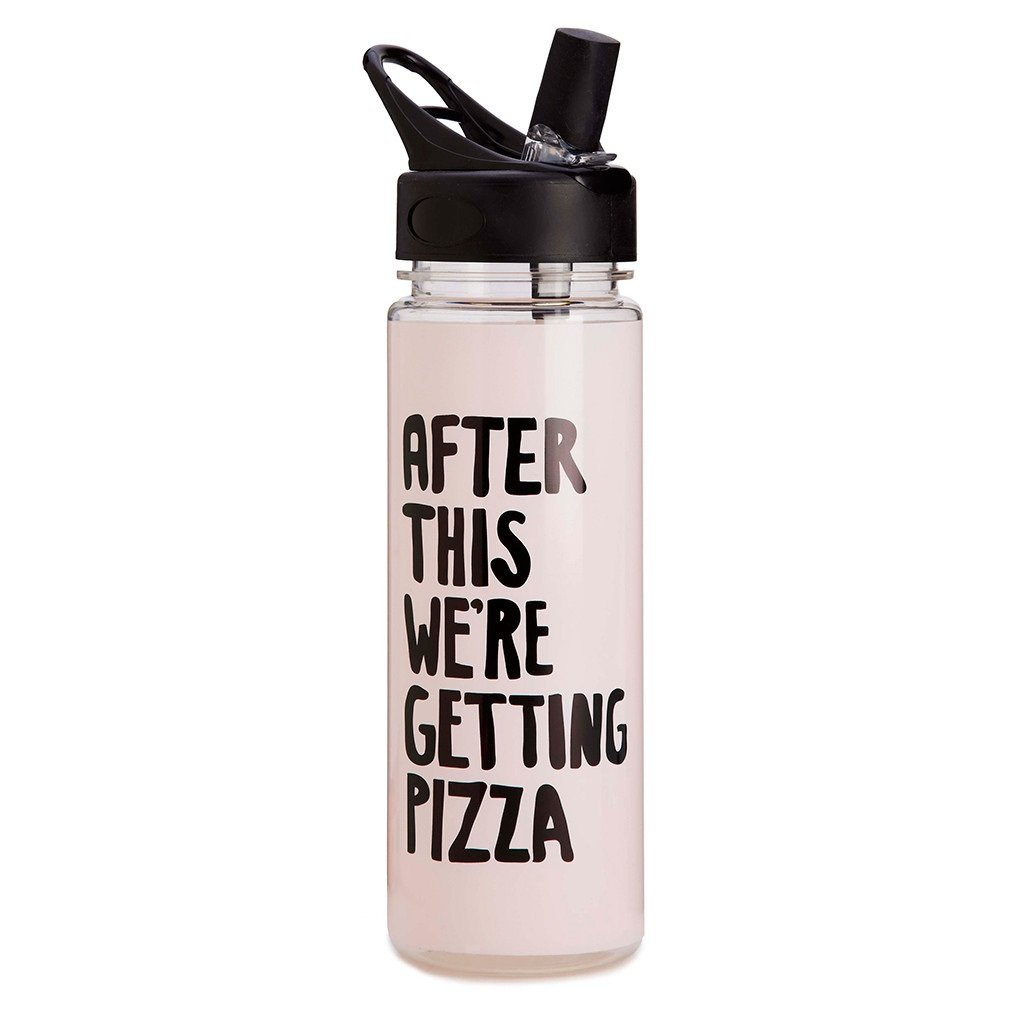 Ban.do Work It Out After This We're Getting Pizza Water Bottle, Multicolor by Bando 825466936928