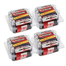 ANSMANN AA Alkaline Batteries (LR6) longlife with high capacity for clocks, radios, remote controls, telephones, etc. (Pack of 80)
