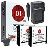 DOT-01 2X Brand Fujifilm Square SQ10 Batteries and Charger for Fujifilm Square SQ10 Instant Camera and Fujifilm SQ10 Battery and Charger Bundle for Fujifilm NP50 NP-50
