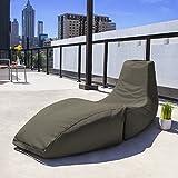 Jaxx Outdoor Prado Bean Bag Lounge Chair, Solid, Taupe