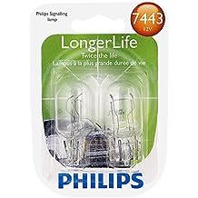 Philips 7443 LongerLife Miniature Bulb, 2 Pack