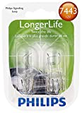 Philips 7443 LongerLife Miniature Bulb, 2 Pack