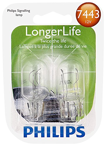 (Philips 7443 LongerLife Miniature Bulb, 2 Pack)