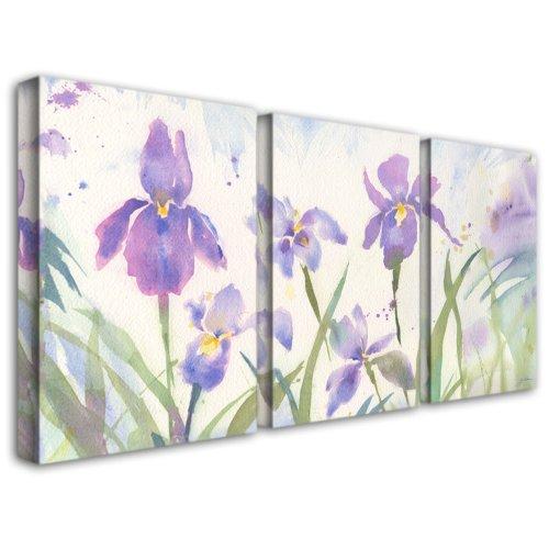 June Iris by Sheila Golden, Three Panel Set