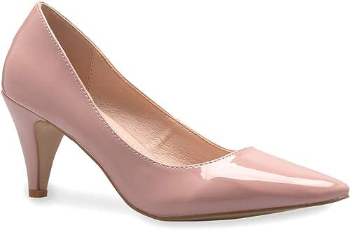Olivia K Girls Kids Kitten Heels Rhinestone Patent Pretty Sandals Mary Jane Platform Dreess Pumps