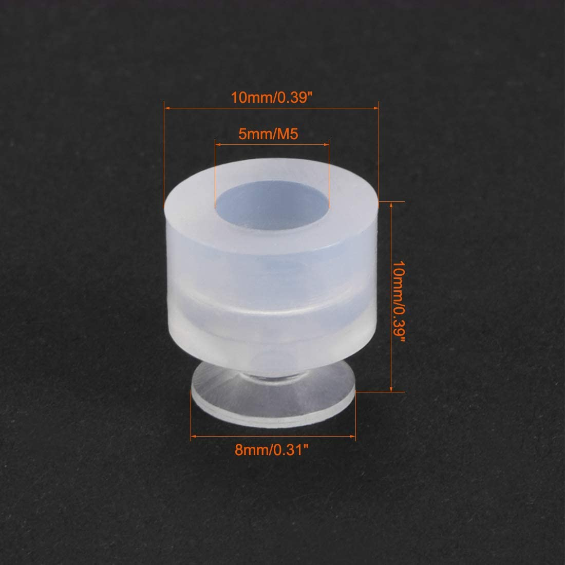 8mm Diameter x M5 Joint Silicone Vacuum Pneumatic Suction Cup uxcell Suction Cups