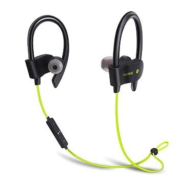 Sisaki Auriculares Bluetooth 4.1 Auriculares inalámbricos Audífonos Deporte con micrófono, Sweatproof IPX6, Cancelación de Ruido con Sonido Estéreo para ...