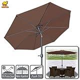 Strong Camel 9ft Patio Umbrella with Tilt and Crank 8 Ribs Outdoor Garden Market Umbrella Sunshade (Brown) Review