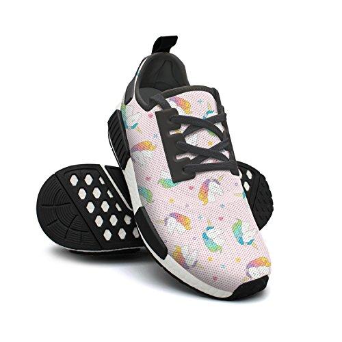 Womens Original Head Basketball Mesh Star Pink Sneakers Unicorn Sneaker Lightweight FAAERD Fashion Breathable Heart xwFPUF6q