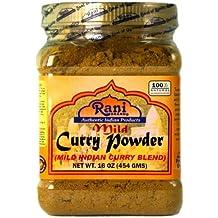 Rani Curry Powder Mild Natural Spice Blend 1lb (16oz) Salt Free ~ Gluten Free