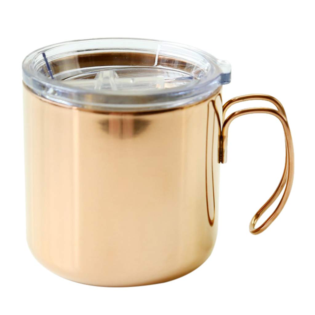 Homyl Stainless Steel Coffee Mugs Double Walled Insulated Coffee Beer Mugs, BPA Free Healthy Choice, Shatterproof and Spill Resistant, (Silver, Golden, Rose Gold, Black Available)) - Rose Gold