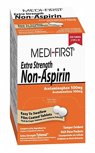 - Medi-First Extra Strength Non-Aspirin, 500mg, PK250