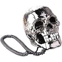 Actopus Creative Funny LED Flash Eyes Skull Skeleton Landline Table Telephone