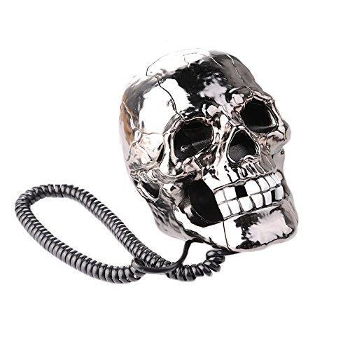 Actopus Creative Funny LED Flash Eyes Skull Skeleton Landline Table Telephone by Actopus