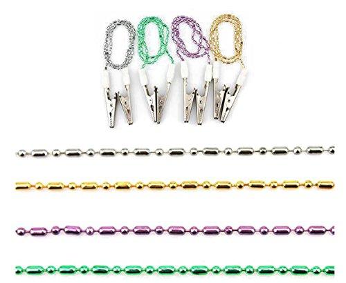 - Dental Ball Chain Clips Napkin Holder Bib Clips Metal Apron Towel Napkin Clip Lanyard Neck Strap Napkin Chain for Elderly Adult Baby Colour Random (Pack of 4 )