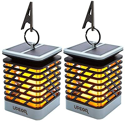 【2020 Thanksgiving New Arrival】UPEOR Solar Lantern Outdoor Waterproof Solar Flame Lights, Dancing Flames Lights 96 Warm Led Dusk to Dawn Solar Powered Hanging Decorative Lights : Garden & Outdoor