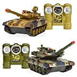 Flying Shark Air Swimmers Best Deals - Legacy Toys Laser Tag Tanks - LED Battling Tanks Toys - Set of 2 RC Tanks with Infrared Remote Control RC Car Capabilities - Battle Tanks Keep Score / Register When Hit
