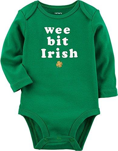 Carter's Unisex Baby Long-Sleeve St. Patrick's Day Bodysuit (3 Months, Green)