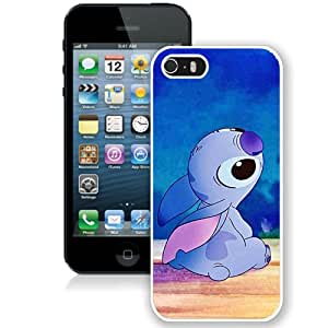 Fashionable iPhone 5 5S Case ,Unique And Lovely Designed Case With Cartoon Lilo & Stitch White iPhone 5 5S Cover Phone Case