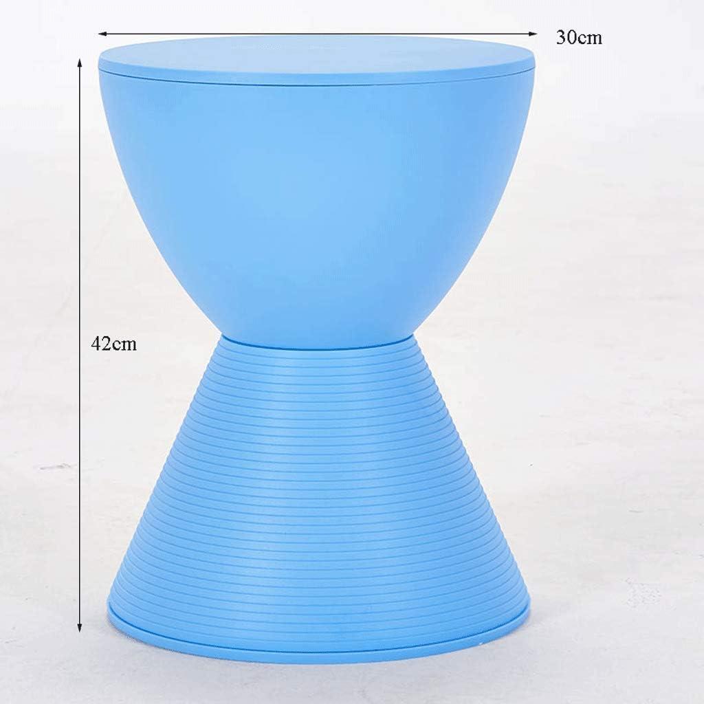 YYBB Sablier Nordique en Plastique Petit Banc Moderne Maison Simple Mode créatif Chaussure Changement Tabouret Counter Sstool (Color : Orange) Blue