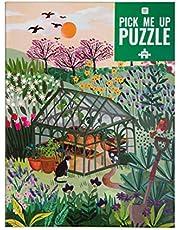 Talking Tables Tuinpuzzel van 1000 stukjes - met bijpassende poster en trivia-blad - Kleurrijk geïllustreerd ontwerp, Britse bloemen, verjaardagscadeau, cadeaus voor tuinmannen, kunst aan de muur