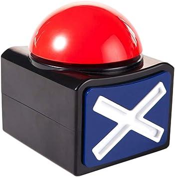 Amazon.es: Toyvian Caja de Botones de Alarma de Respuesta de Juego con luz de Sonido Concurso de Fiesta Accesorio Juguete Trivia cuestionario Tiene Talento zumbador para niños Adultos