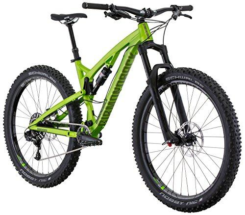 Diamondback Bicycles Catch 2 Full Suspension 27.5 Plus Mountain Bike, Green, 19″/Large