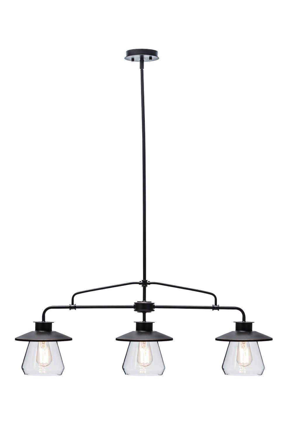 Globe Electric 64845 Nate 3 Light Pendant Bronze Oil Rubbed Finish Fixture Wiring As Well A Wires Besides Electrical Clear Glass Shades