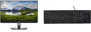"""Dell SE2419Hx 23.8"""" IPS Full HD (1920x1080) Monitor, Black & Wired Keyboard - Black KB216 (580-ADMT)"""