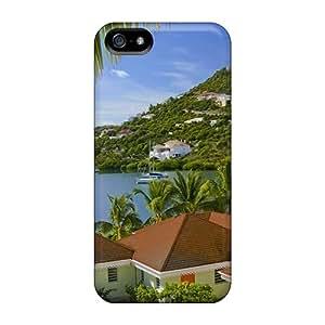Premium Tpu Lovely Caribbean Harbor Cover Skin For Iphone 5/5s
